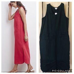 J. Jill Love Linen Black V-Neck Maxi Dress Sz. XL